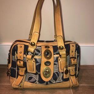 LIMITED EDITION Coach Denim & Leather Shoulder Bag